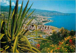 Moderne Karte Panorama des collines occidentales Sanremo