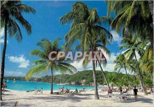 Moderne Karte Guadeloupe Sainte Anne Plage de la Caravelle