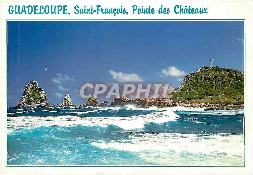 Moderne Karte Guadeloupe Saint Francois Pointe des Chateaux 0