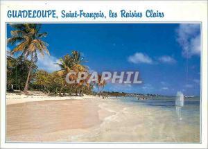 Moderne Karte Guadeloupe Saint Francois Les Raisins Clairs