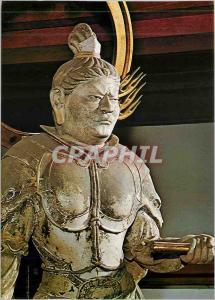 Moderne Karte The Statue of Komokuten One of the Heavenly Curdians of Buddhist Todaiji Temple Japon Japan
