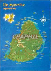 Moderne Karte Ile Maurice Mauritius Carte de l'Ile Maurice