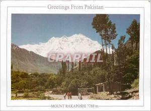 Moderne Karte Greetings from Pakistan Mount Rakaposhi 7788 m Nagar