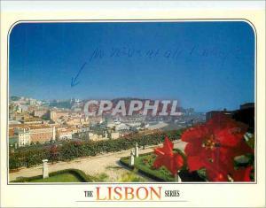Moderne Karte Lisboa Vista Panoramica de Lisboa desde Miradouro de S Pedro de Alcantara