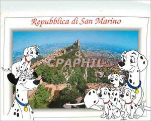Moderne Karte Repubblica di San Marino Premiere tour et Panonorama Damaltiens