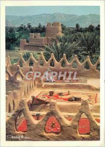 Moderne Karte Kingdom of Saudi Arabia Upper terface of a Traditional day House (Najran Region)