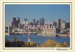 Moderne Karte Montreal et le St Laurent