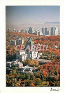 Moderne Karte Montreal L'Oratoire St Joseph et le Centre Ville