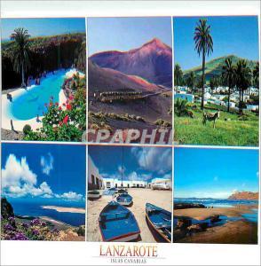Moderne Karte Lanzarote Islas Canarias Playa de Famara