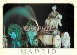 Moderne Karte Madrid Fuente de la Cibeles Lion