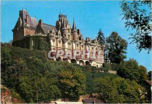 Moderne Karte La Vallee du Loir Environs de Cloyes (Eure et Loir) Montigny le Gannelon le Chateau Bati sous Lo