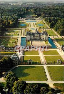Moderne Karte Chateau de Vaux le Vicomte Acces Nord et vue Generale du Domaine Construit par le Vau de 1656 a