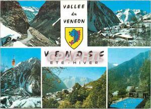 Moderne Karte Venosc Isere Altitude 1000 m Vallee du Veneon Ete Hiver Route de la Berarde vues Generales Telec