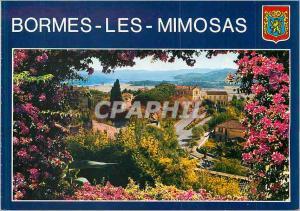 Moderne Karte Bormes les Mimosas (Var) French Riviera