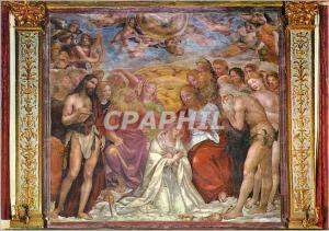 Moderne Karte Siena Oratorio di S Bernardino Couronnement de la Vierge Maria (Sodoma)