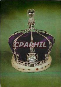 Moderne Karte La Couronne de la Reine Mary (Epouse du Roi Georges V) Faite pour le Couronnement de la Reine Ma