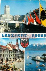 Moderne Karte Lausanne Ouchy La Tour Bel Air Place de la Palud Ouchy Lausanne et les Alpes
