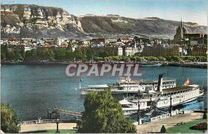 Moderne Karte Geneve La Rade et le Saleve Bateaux