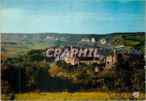 Moderne Karte Les Andelys (Eure) Le Chateau Gaillard (XIIe S) et la Vallee de la Seine