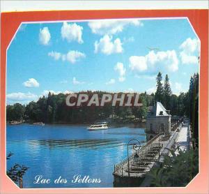 Moderne Karte Le Lac des Settons est le plus Celebre des Lacs du Morvan les Settons Nievre