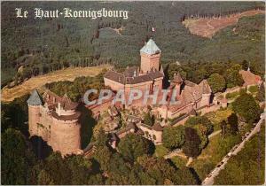 Moderne Karte Le Chateau du Haut Koenigsbourg (Alsace) Grand Chateau Feodal a 755m d'Altitude (Enceinte Longue