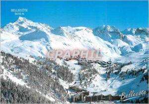 Moderne Karte Plagne Bellecote Savoie (alt 1930m) vue Panoramique de la Station et de son Domaine Skiable