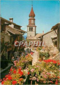 Moderne Karte Yvoire (Hte Savoie) Vieux Village Medieval La Rue Fleurie et l'Eglise