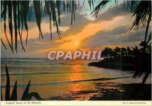 Moderne Karte The Bahamas Islands Tropical Sunset in the Bahamas