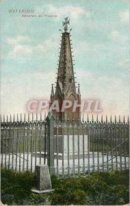 Ansichtskarte AK Waterloo Monument des Prussiens grand Musee du Chemin Creux Hotel Butte du Lion Militaria