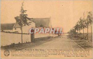 Ansichtskarte AK Waterloo Ferme de la Haie Sainte Les Prussiens ayant commence a se Montrer vers Chapelle St Lamb