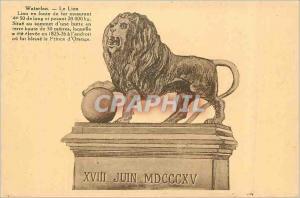 Ansichtskarte AK Waterloo Le Lion Lion en fonte de Fer Mesurant 4 m 50 de Long et pesant 28000 kg