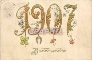 Moderne Karte Bonne Annee Annee 1907