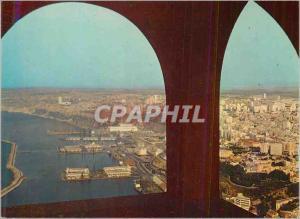 Moderne Karte Oran la Vue Generale vue de Santa Cruz