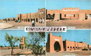 Moderne Karte Adrar (Sahara) La place L'infirmerie L'eglise