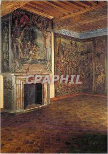 Moderne Karte Musee National de la Renaissance Chateau d'Ecouen (Val d'Oise) la Chambre du Roi Cheminee peinte