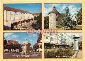 Moderne Karte Gonesse et ses Environs (Val d'Oise) Centre Commercial Les Marronniers Centre Commercial La Fauc
