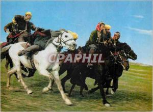 Moderne Karte Afghanistan the Buzkashi Game in Progress Chevaux