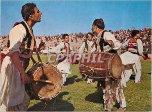 Moderne Karte Afghanistan Drumer and Attan Dancers Folklore