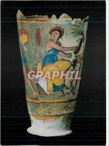 Moderne Karte The National Museum of Afghanistan Kaboul Painted Glass Cup from Bargram Ist 2nd Century AD