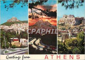 Moderne Karte Greetings from Athens