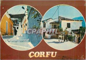 Moderne Karte Corfu Ane Donkey