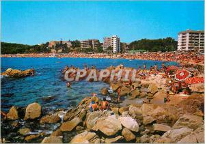 Moderne Karte Lloret de Mar Costa Brava Cala y Playa Fanals