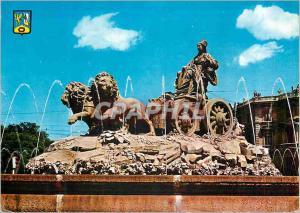 Moderne Karte Madrid la Cibeles Lion