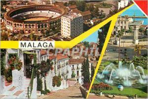 Moderne Karte Malaga Beautes de la Ville