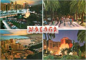 Moderne Karte Malaga Costa Del Sol Vues Diverses