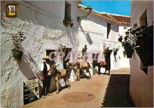 Moderne Karte Mijas (Costa del Sol) Arret de Ane Taxi Ane Donkey