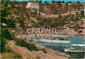 Moderne Karte Mallorca (Baleares) Espana Palma Playa de Illetas Bateau
