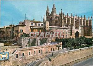 Moderne Karte Palma de Mallorca la Catedral y el Palacio de la Almudaina
