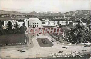 Moderne Karte Geneve le Palais des Nations Vue sur la Ville et le Mont Blanc