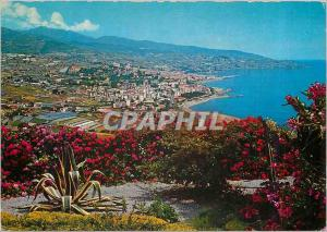 Moderne Karte Sanremo Riviera dei Fiori Panorama des Collines Occidentales